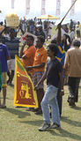 Sri Lanka fans at Cricket World Cup 2011 Stock Image