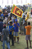 Sri Lanka fans at Cricket World Cup 2011 Stock Images