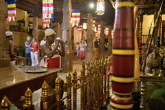 Colorful interior of Tooth Temple Stock Images
