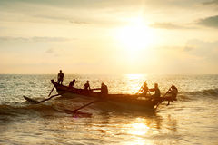 Sri Lanka fisherman Royalty Free Stock Image