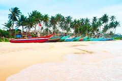 Sri lanka fisherman village Stock Image