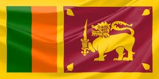 Sri lanka flag stock photos