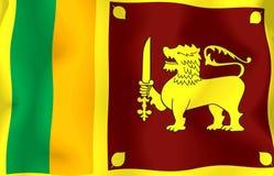 Sri Lanka Flag. Wavy and realistic sri lanka Flag royalty free illustration