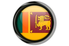 Sri Lanka flag in the button pin Isolated on White Background Stock Photos