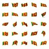 Sri Lanka flag, vector illustration Stock Images