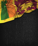 Sri Lanka Flag Vintage on a Grunge Black Chalkboard. With Space For Text Design stock photography