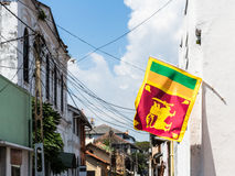 Sri Lanka flagga i Galle Arkivbilder