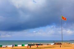 Sri Lanka Fluttering Flag Royalty Free Stock Image