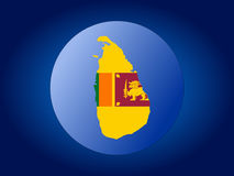 Sri lanka globe. Map and flag of Sri lanka globe illustration Royalty Free Stock Photography