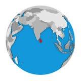 Sri Lanka on globe Stock Image