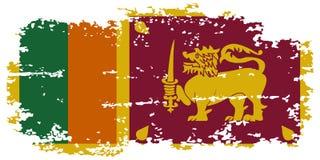 Sri Lanka grunge flag. Vector illustration. Royalty Free Stock Images