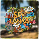 Sri Lanka hand lettering and doodles elements and Royalty Free Stock Images