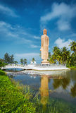 Sri Lanka. Hikkaduwa. The obelisk in memory of the Buddha died during the tsunami. Landscapes and Architecture of Sri Lanka Royalty Free Stock Photo