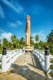 Sri Lanka. Hikkaduwa. The obelisk in memory of the Buddha died during the tsunami Royalty Free Stock Photography