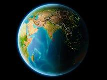 Sri Lanka i aftonen Arkivbilder