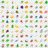 100 sri lanka icons set, isometric 3d style Stock Photos