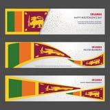 Sri Lanka independence day abstract background design banner and. Flyer, postcard, landscape, celebration vector illustration - This Vector EPS 10 illustration royalty free illustration