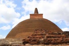 Sri Lanka. The Jetavanaramaya is a stupa, located in the ruins of Jetavana Monastery in the sacred world heritage city of Anuradhapura Royalty Free Stock Photography