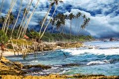 Sri lanka Koggala Stilt Fisherman stock photography