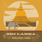 Sri Lanka landmarks. Retro styled image Stock Photo
