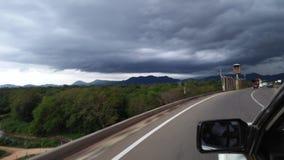 Sri Lanka Landstraßenstraße im Ziel ist schön stockfoto