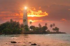 Sri Lanka, Lighthouse Dondra Head. Royalty Free Stock Photo