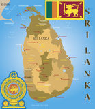 Sri Lanka map. Stock Photography