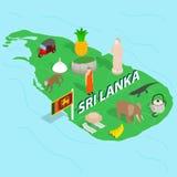 Sri Lanka map concept, isometric 3d style Royalty Free Stock Photography