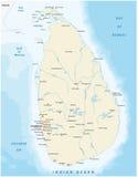 Sri Lanka map Stock Images