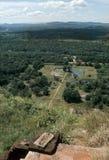 1977 Sri Lanka Mening vanaf de bovenkant van Sigiriya-rots Stock Foto's