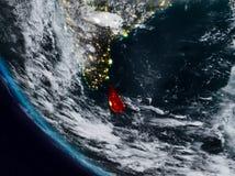 Sri Lanka nachts vom Raum vektor abbildung