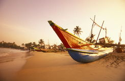 SRI LANKA NEGOMBO DHONI FISHINGBOAT Royalty Free Stock Images