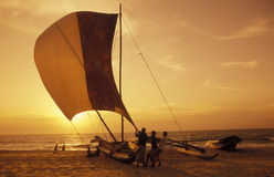 SRI LANKA NEGOMBO DHONI FISHINGBOAT Royalty Free Stock Image