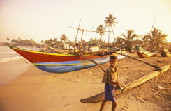 SRI LANKA NEGOMBO DHONI FISHINGBOAT Royalty Free Stock Photos