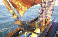 SRI LANKA NEGOMBO DHONI FISHINGBOAT Stock Images