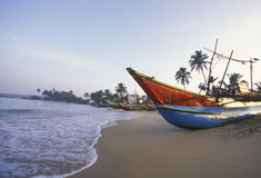 SRI LANKA NEGOMBO DHONI FISHINGBOAT Stock Image