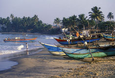 SRI LANKA NEGOMBO DHONI FISHINGBOAT Stock Photos