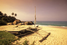 SRI LANKA NEGOMBO DHONI FISHINGBOAT Royalty Free Stock Photo