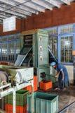 Sri Lanka Nuwara Eliya Tefabrik inomhus around-7 Arkivfoton