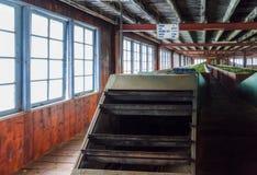 Sri Lanka Nuwara Eliya Tefabrik inomhus omkring Arkivbilder