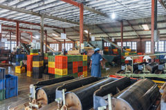 Sri Lanka Nuwara Eliya Theefabriek binnen rond-9 Stock Foto