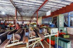 Sri Lanka Nuwara Eliya Theefabriek binnen rond-6 Royalty-vrije Stock Foto