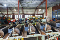 Sri Lanka Nuwara Eliya Theefabriek binnen rond-8 Royalty-vrije Stock Foto's