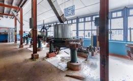 Sri Lanka Nuwara Eliya Theefabriek rond binnen Royalty-vrije Stock Afbeeldingen