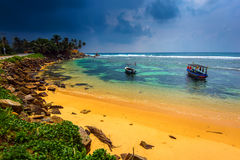Sri Lanka. Ocean coast of Sri Lanka in the tropics Stock Image