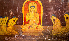 Sri Lanka, old buddha temple, tourism attractions Stock Photography