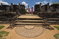 Sri Lanka. Old city of Polonnaruwa. The ruins of the city Stock Image