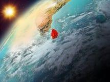 Sri Lanka op aarde in zonsondergang Royalty-vrije Stock Foto's
