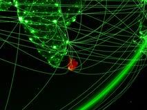 Sri Lanka op groene Aarde stock illustratie