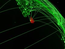 Sri Lanka op groene bol stock illustratie
